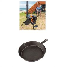 Adventure Kings Camp Oven/Stove + Cast Iron Skillet Pan