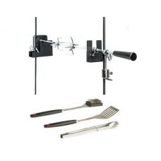 Adventure Kings Camping Rotisserie + BBQ Tool Set