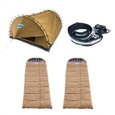 Adventure Kings Double Swag Big Daddy Deluxe + 2x Premium Sleeping bag -5°C to 5°C - Left and Right Zipper + Illuminator MAX LED Strip Light