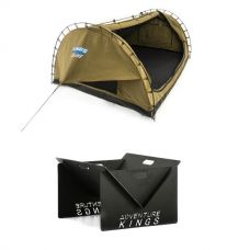 Adventure Kings Double Swag Big Daddy Deluxe + Kings Portable Steel Fire Pit