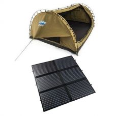 Adventure Kings Double Swag Big Daddy Deluxe + 200W Portable Solar Blanket