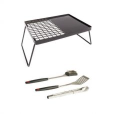 Adventure Kings Essential BBQ Plate + BBQ Tool Set