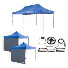 Adventure Kings - Gazebo 6m x 3m + 2x Adventure Kings Gazebo Side Wall + Illuminator 4m MAX LED Strip Light