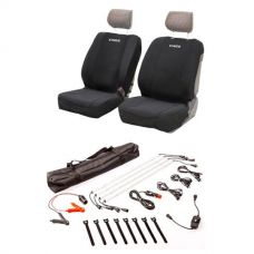 Adventure Kings Neoprene Front Seat Covers + Illuminator 4 Bar Camp Light Kit
