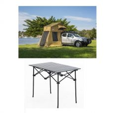 Adventure Kings Roof Top Tent + 4-man Annex + Aluminium Roll-Up Camping Table