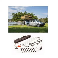 Adventure Kings Roof Top Tent + Illuminator 4 Bar Camp Light Kit