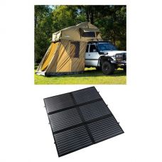 Adventure Kings Roof Top Tent + 4-man Annex + 200W Portable Solar Blanket