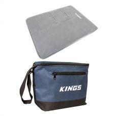 Adventure Kings Self Inflating 100mm Foam Mattress - Queen + Cooler Bag