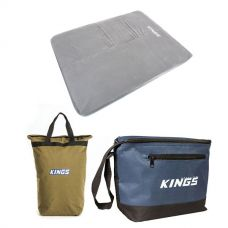 Adventure Kings Self Inflating 100mm Foam Mattress - Queen + Doona/Pillow Canvas Bag + Cooler Bag