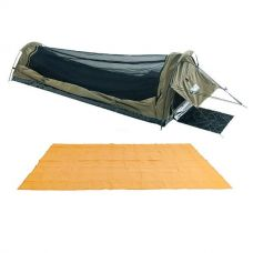 Adventure Kings Single Swag - Kwiky + Adventure Kings - Mesh Flooring 5m x 2.5m