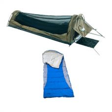 Adventure Kings Single Swag Kwiky + Right Hooded Sleeping Bag