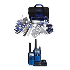 Adventure Kings Tool Kit - Ultimate Bush Mechanic + Oricom Handheld UHF CB Radio Twin Pack - UHF2190