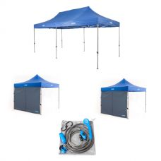 Adventure Kings - Gazebo 6m x 3m + 2x Gazebo Walls + Portable Shower Kit
