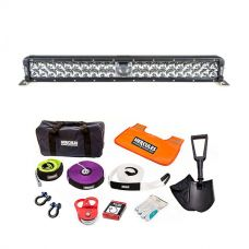 """Adventure Kings 24"""" Laser Light Bar + Complete Recovery Kit"""