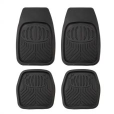 4 Pack Kings Deep Dish Floor Mats | Heavy Duty Rubber | Universal Fit | Easy to Clean