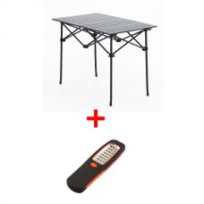 Adventure Kings Aluminium Roll Up Camping Table + Illuminator 24 LED Work Light