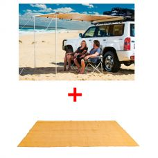 Adventure Kings Awning 2x2.5m + Adventure Kings - Mesh Flooring 5m x 2.5m
