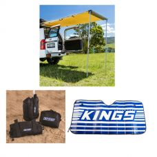 Adventure Kings Rear Awning 1.4 x 2m + Awning Sand Bag Kit (pair) + Sunshade