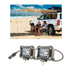"Adventure Kings Awning 2x2.5m + 4"" LED Light Bar"