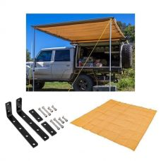 Adventure Kings Awning 2x3m + Awning Mounting Brackets (Pair) + Mesh Flooring 3x3m