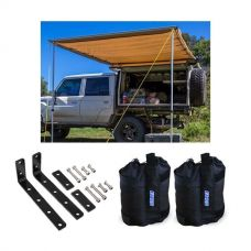 Adventure Kings Awning 2x3m + Awning Mounting Brackets (Pair) + Adventure Kings Sand Bags (pair)
