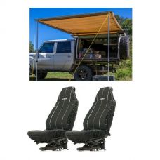Adventure Kings Awning 2x3m + Adventure Kings Heavy Duty Seat Covers (Pair)