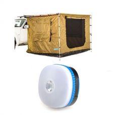 Adventure Kings 2.5 x 2.5m Awning Tent + Mini Lantern