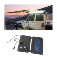 2 x 3m 2 in 1 Awning + Strip Light + 10W Portable Solar Panel