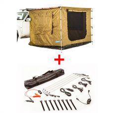 Adventure Kings 2x3m Awning Tent + Illuminator 4 Bar Camp Light Kit