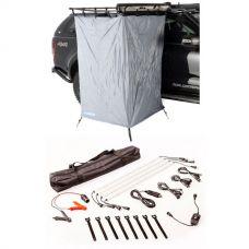 Ensuite Awning Shower Tent  + 4 Bar Camp Light Kit