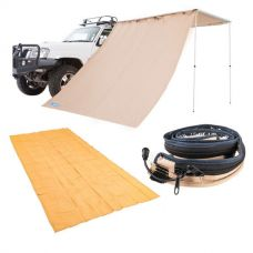 Adventure Kings Awning Side Wall + Mesh Flooring 6m x 3m + LED Strip Light