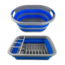 Collapsible Laundry Basket + Collapsible Dish Rack