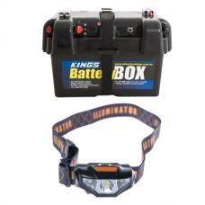 Adventure Kings Battery Box + Illuminator LED Head Torch