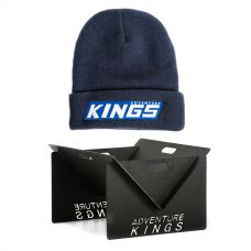 Kings Portable Steel Fire Pit + Camper's Beanie
