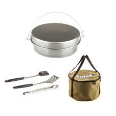 Bedourie Camp Oven + Adventure Kings Camp Oven Canvas Bag + BBQ Tool Set