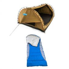 Adventure Kings Big Daddy Double Swag + Right Hooded Sleeping Bag