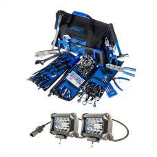 "Adventure Kings 4"" LED Light Bar + Big Daddy Bush Mechanic Tool Kit"