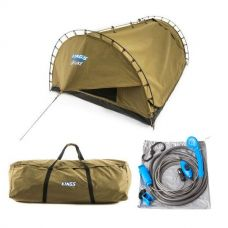 Adventure Kings 'Big Daddy' Deluxe Double Swag + Swag Canvas Bag + Portable Shower Kit