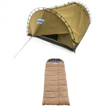 Adventure Kings Double Swag Big Daddy Deluxe + Premium Sleeping bag -5°C to 5°C Degrees Celsius Right Zipper
