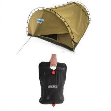 Adventure Kings 'Big Daddy' Deluxe Double Swag + Adventure Kings Camping Solar Shower