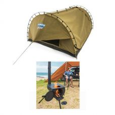 Adventure Kings Camp Oven/Stove + Adventure Kings Double Swag Big Daddy Deluxe