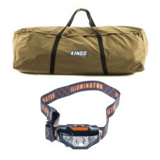 Kings Swag Canvas Bag + LED Head Torch