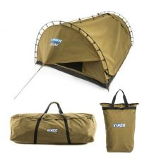 Adventure Kings 'Big Daddy' Deluxe Double Swag + Swag Canvas Bag + Doona/Pillow Canvas Bag