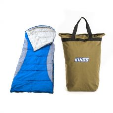 Adventure Kings Left Hooded Sleeping Bag + Doona/Pillow Canvas Bag
