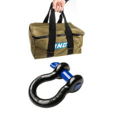 Adventure Kings Canvas Recovery Bag + Hercules Bow Shackle 4.7T