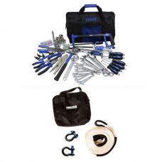 Adventure Kings Tool Kit - Ultimate Bush Mechanic + Hercules Snatch Strap Kit