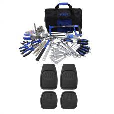Adventure Kings Tool Kit - Ultimate Bush Mechanic + 4 Pack Kings Deep Dish Floor Mats