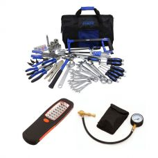 Adventure Kings Tool Kit - Ultimate Bush Mechanic + Illuminator 24 LED Work Light + Tyre Deflator - Kwiky