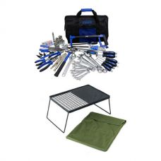Adventure Kings Tool Kit - Ultimate Bush Mechanic + Camp Fire BBQ Plate