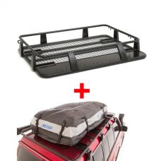 Steel Single Cab Roof Rack + Adventure Kings Premium Waterproof Roof Top Bag